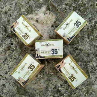 Lot de 5 savons d'Alep traditionnels avec 35% d'huile de baie de laurier.